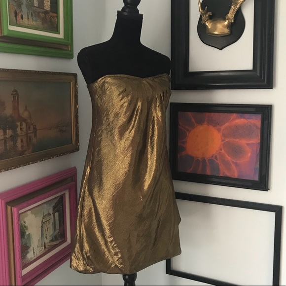"Banana Republic Dresses & Skirts - Strapless Metallic ""Party"" dress!"